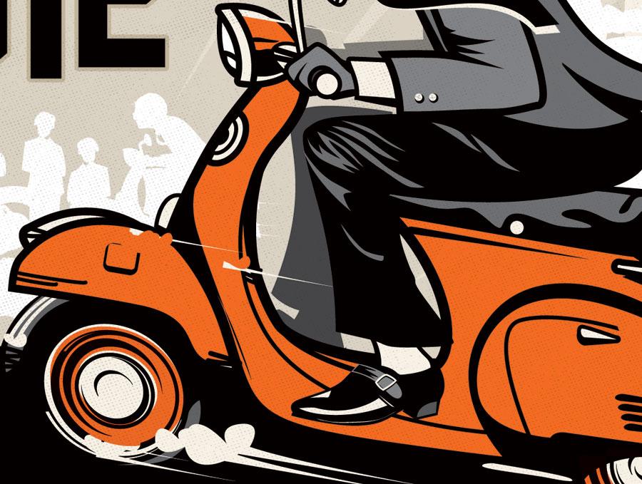 AMA Vintage Motorcycle Days Illustration