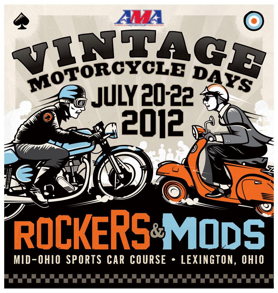 AMA Vintage Motorcycle Days Illustration by Wilkinson Bros