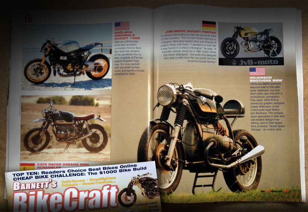 Wilkinson Bros BMW Cafe Racer in BikeCraft Magazine
