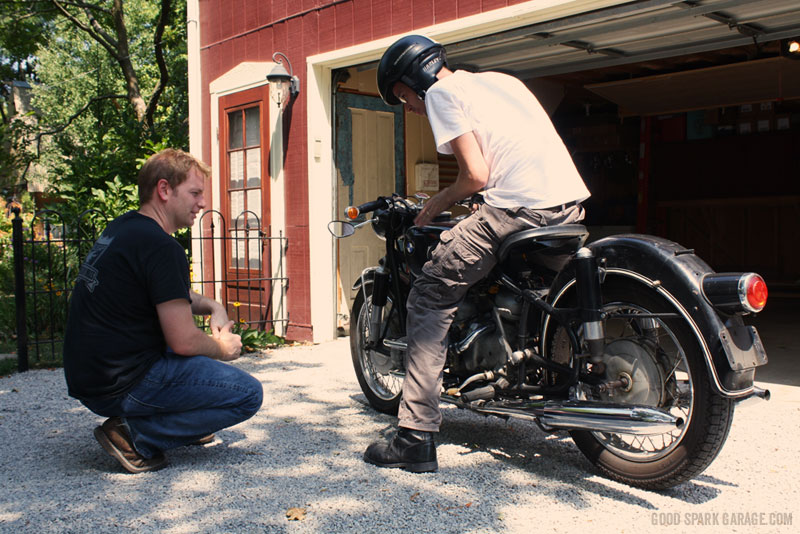 Casey and Chris look over the BMW R60/2