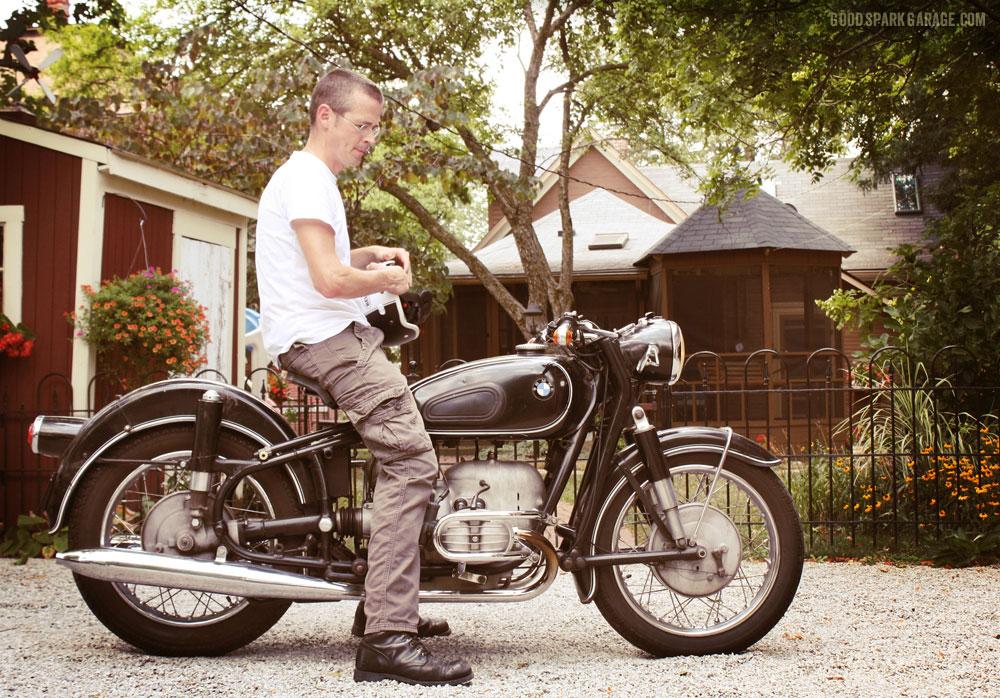Chris and his BMW