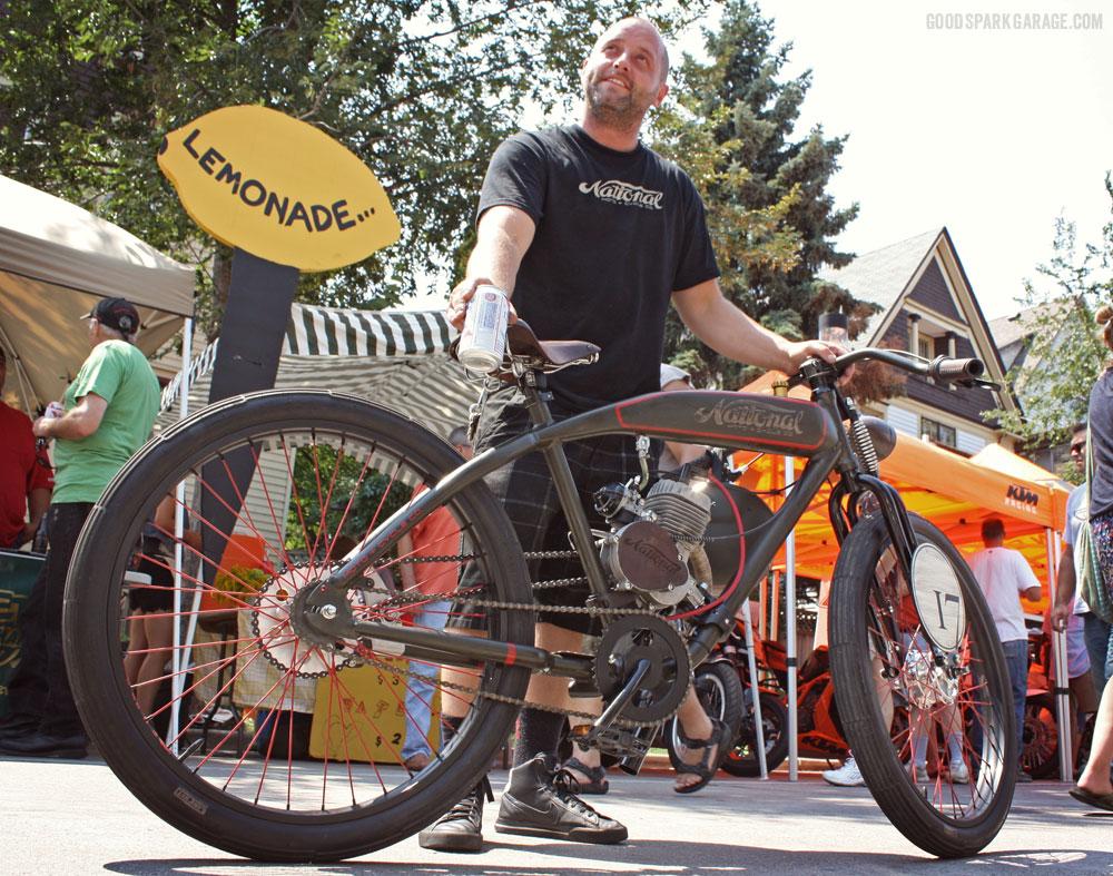 Matty Bennett with a National Moto custom.