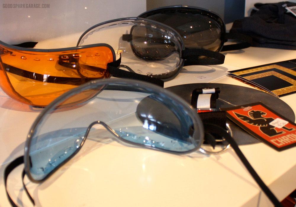 Eye protection at National Moto+Cycle Co.
