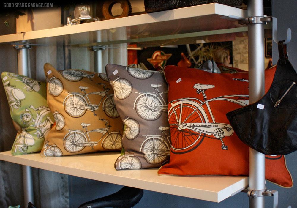 Pillows at National Moto+Cycle Co.