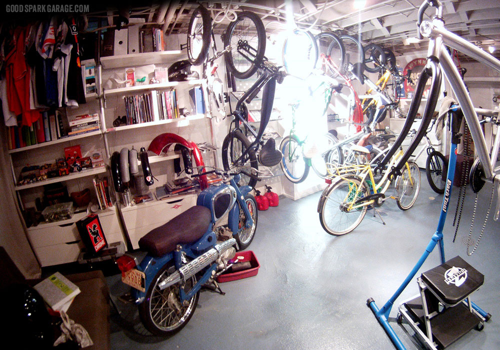 The basement at National Moto+Cycle Co.
