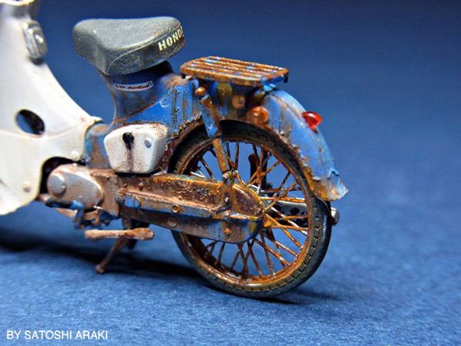 Honda Cub 1/35 Scale - Detail