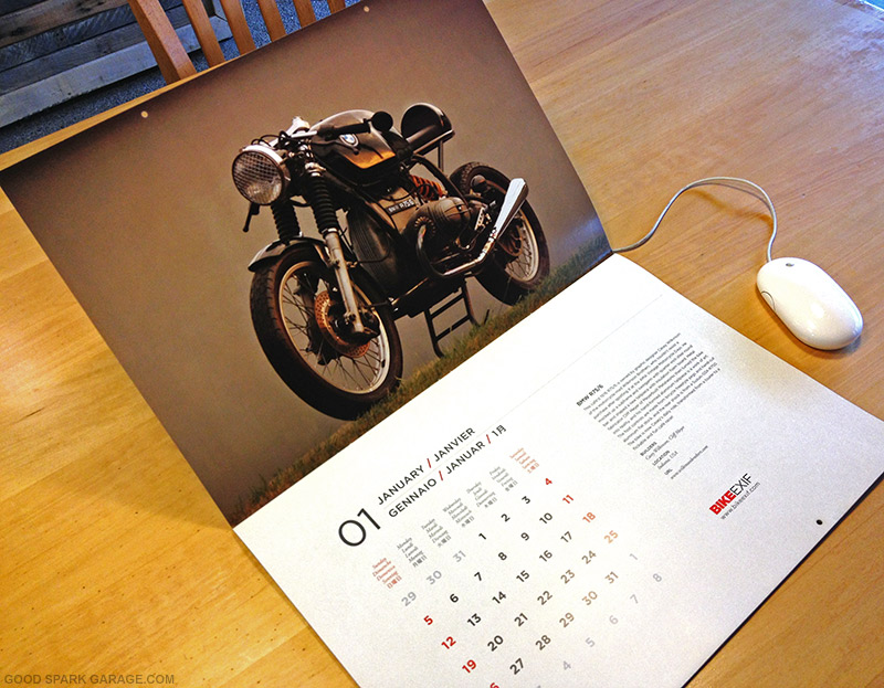 Bike Exif Calendar 2014 BikeEXIF Wall Calendar