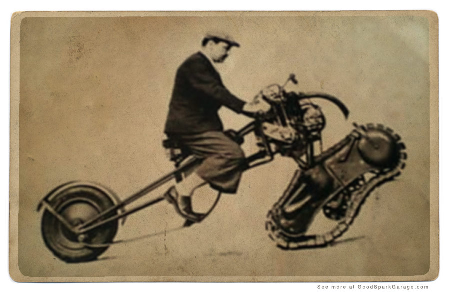 Merciers Tracked Motorcycle