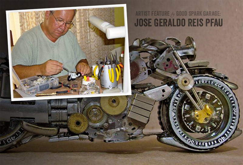 Jose Pfau Miniature Motorcycle Sculptor