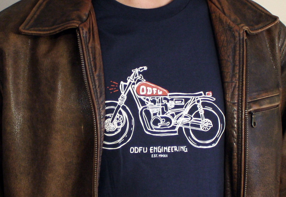 ODFU Engineering Tee Under Jacket