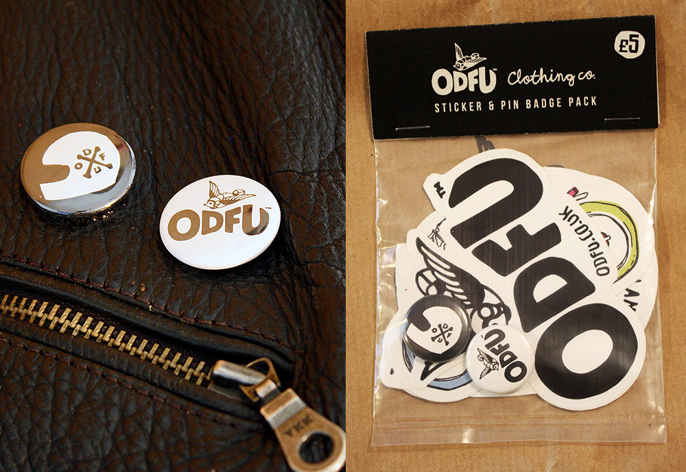 ODFU Sticker And Pin Badges