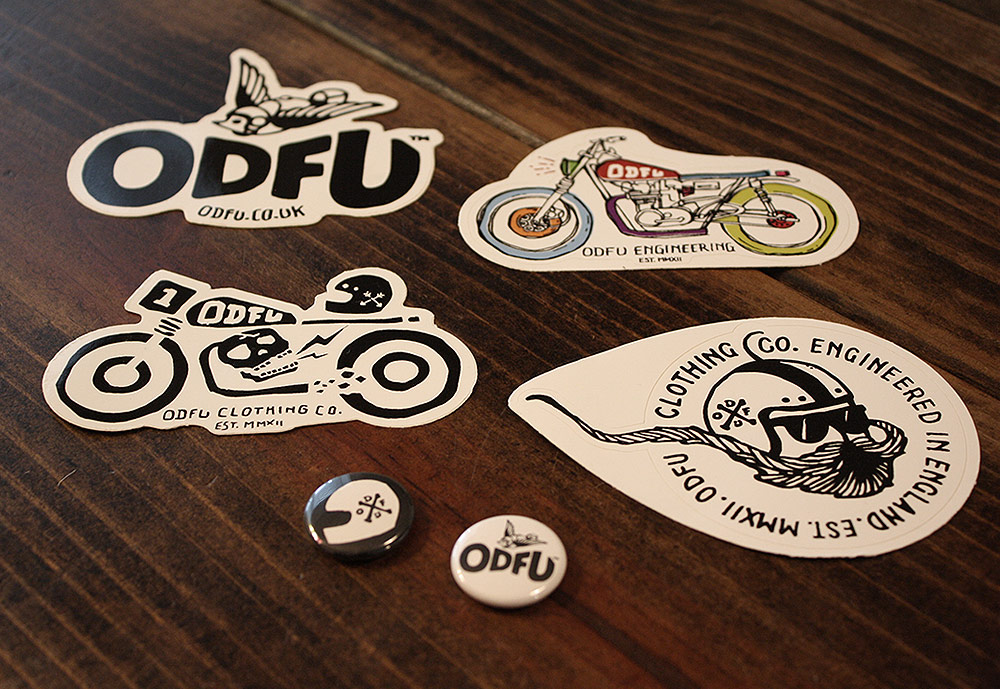 ODFU Stickers and Buttons