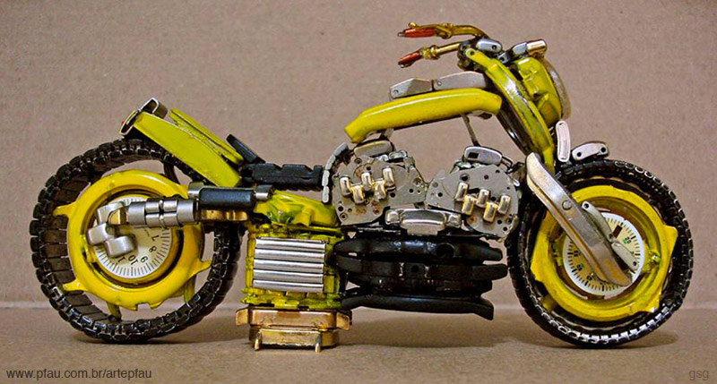 Jose Pfau : Yellow Watch Motorcycle