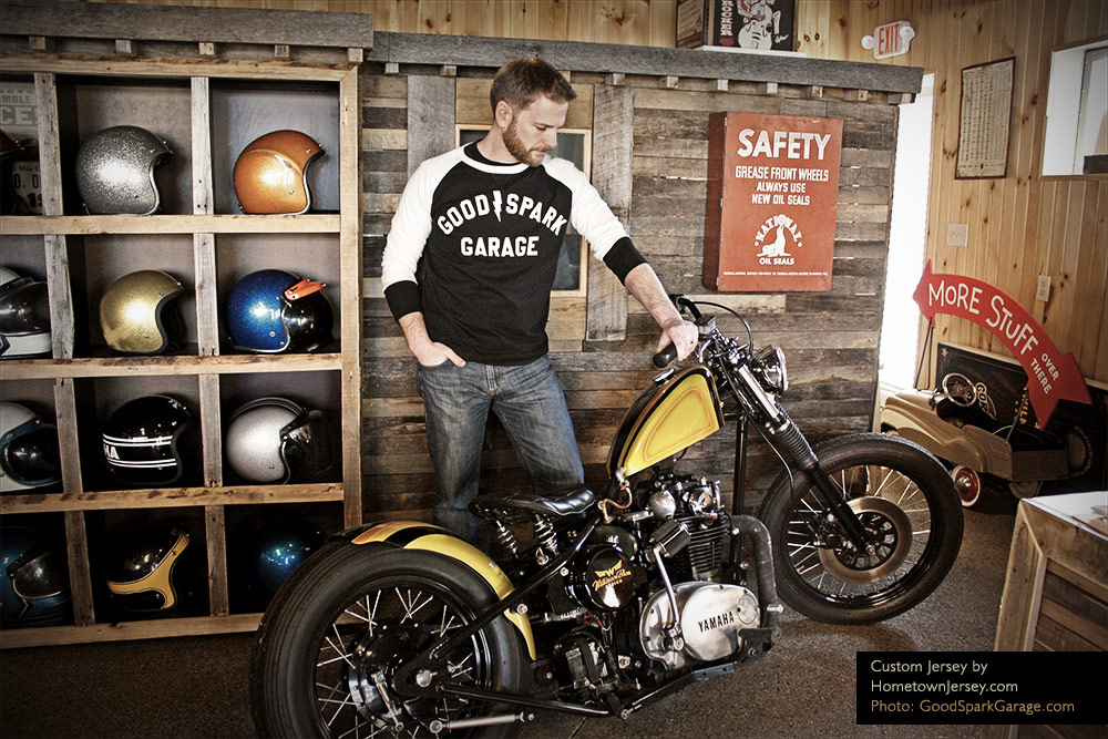 Cool motorcycle garage