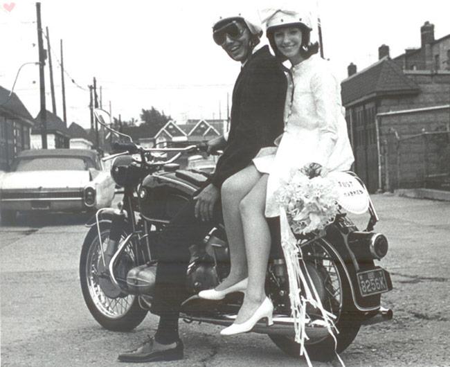 vintage motorcycle BMW married