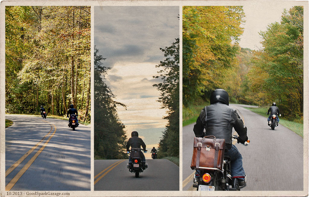 Deals Gap Motorcycling Triptych 1