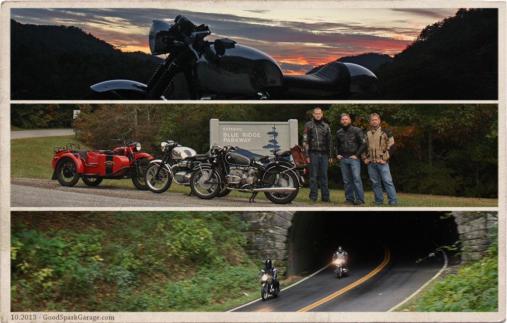 Deals Gap Motorcycle Triptych