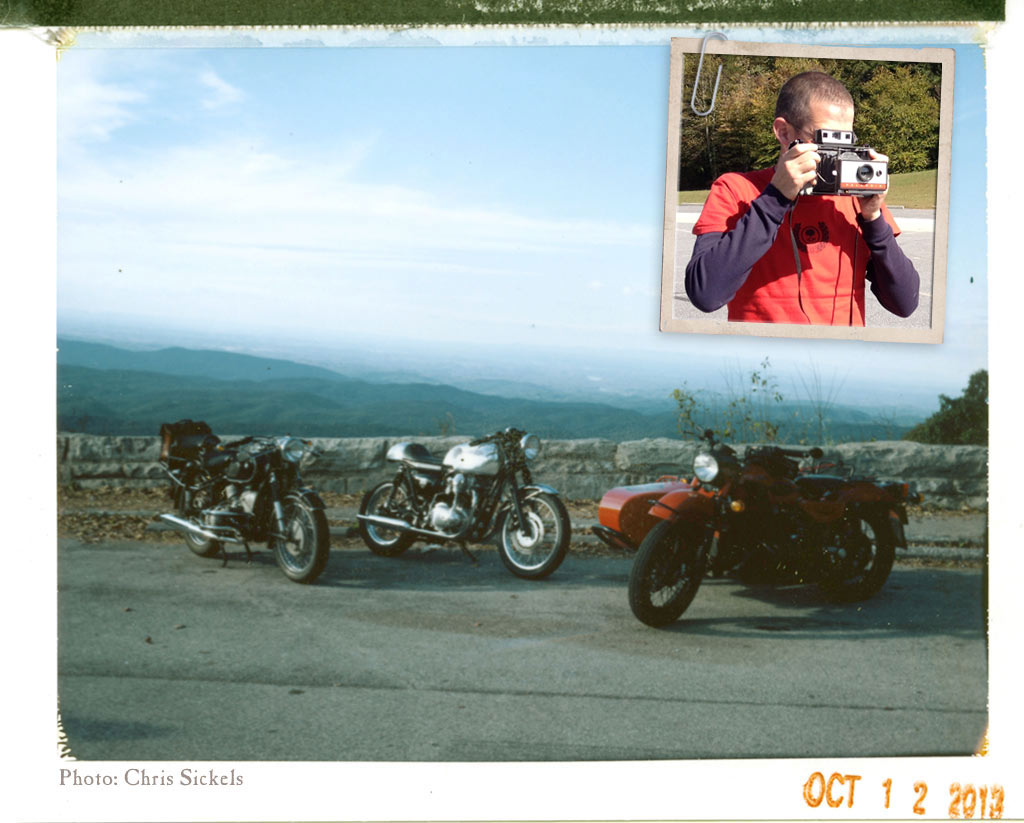 Chris Sickels Polaroid on Cherohala Skyway