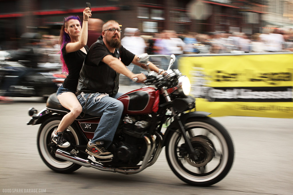 Motorcycles On Meridian Indianapolis Couple