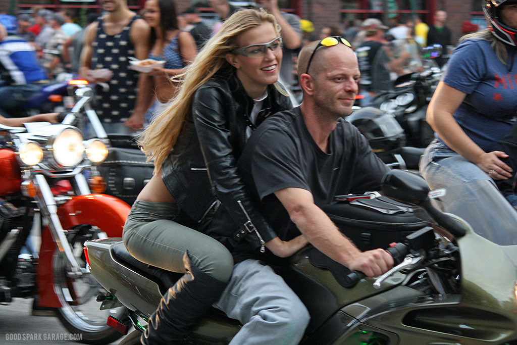 Motorcycles On Meridian Indianapolis Moto Couple