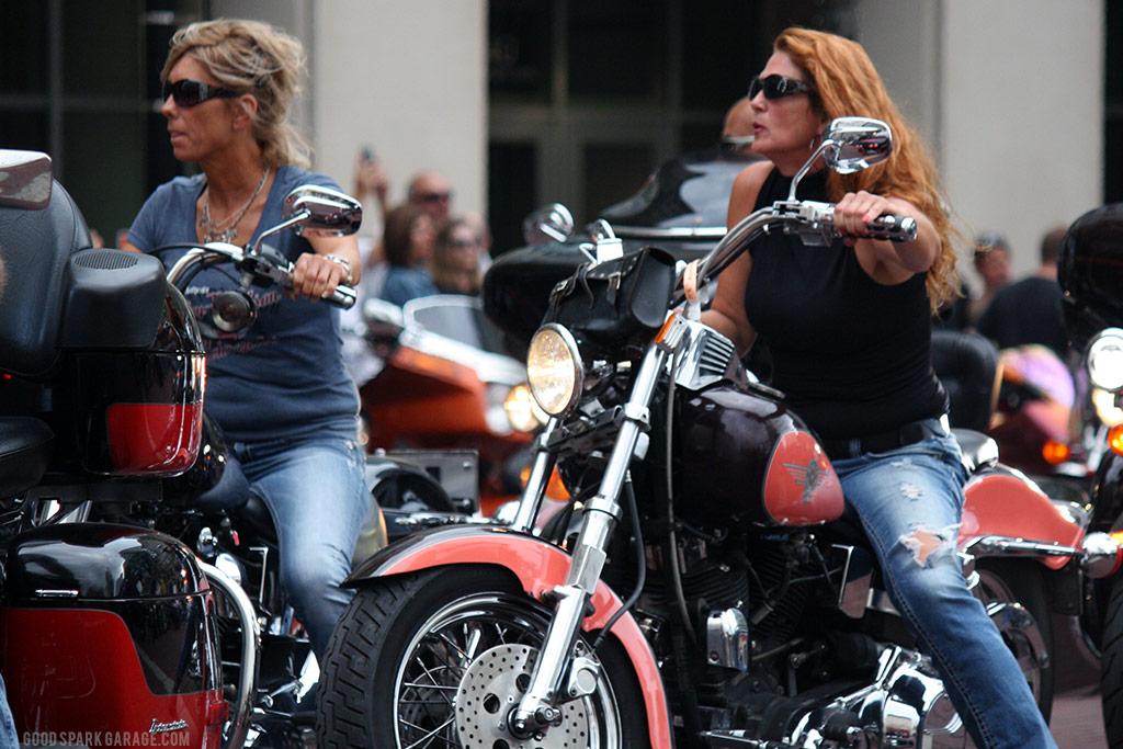 Motorcycles On Meridian Indianapolis Biker Ladies