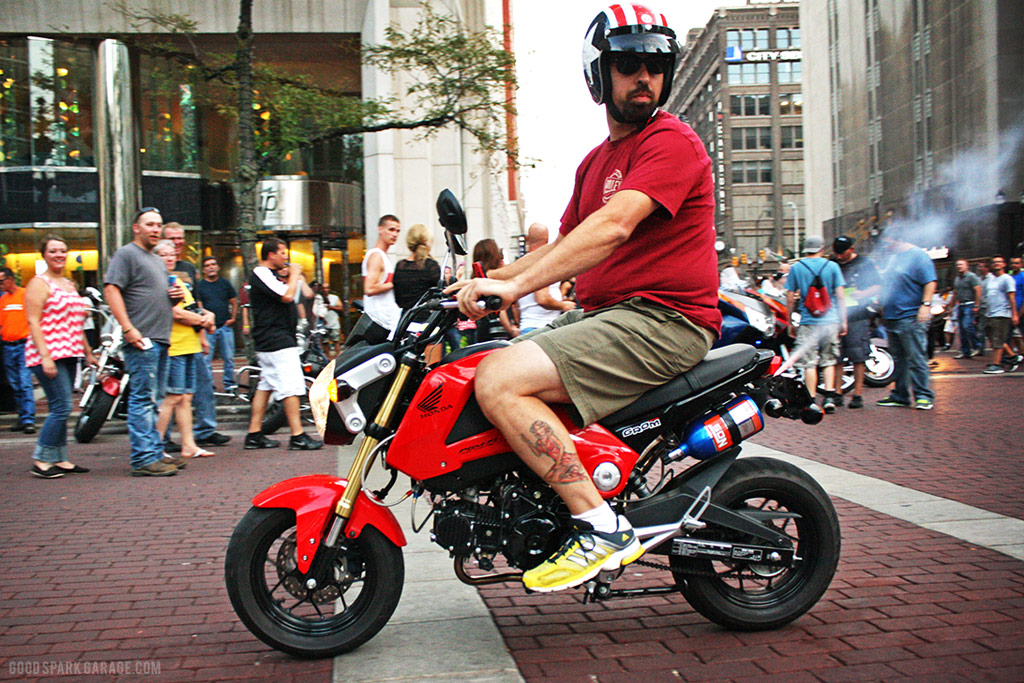 Motorcycles On Meridian Indianapolis Grom