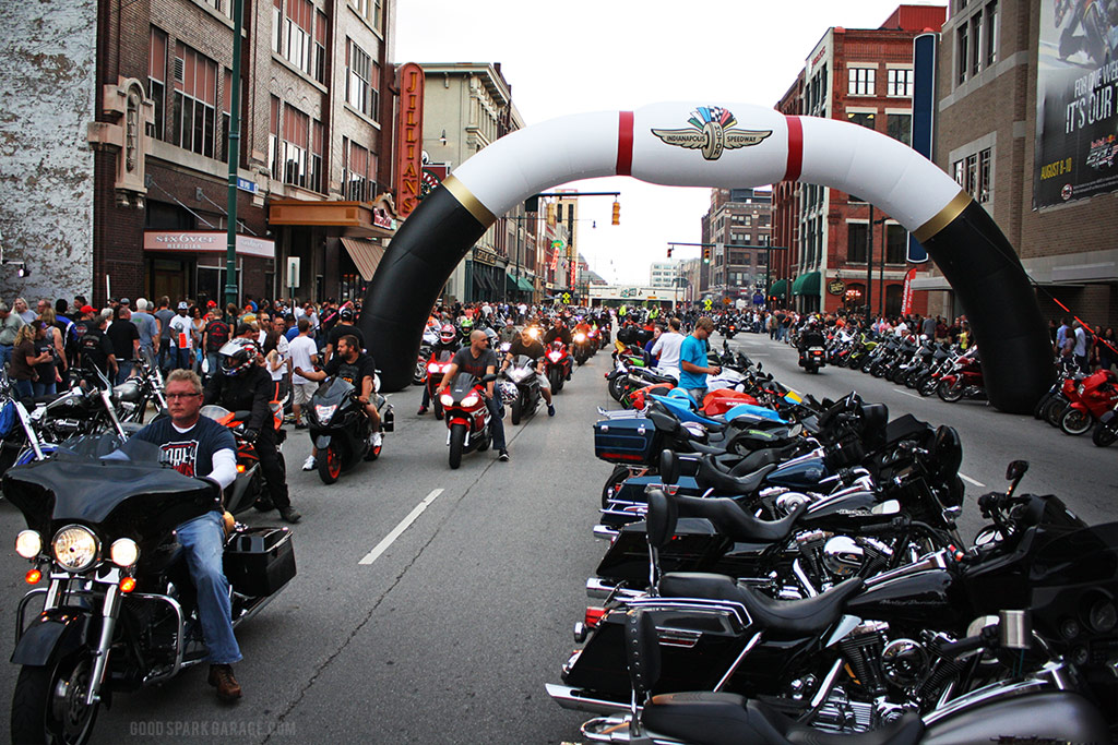 Motorcycles On Meridian Indianapolis Scene