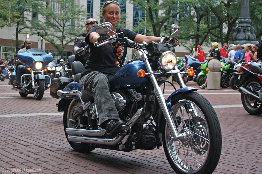 Motorcycles On Meridian Indianapolis Biker Gal