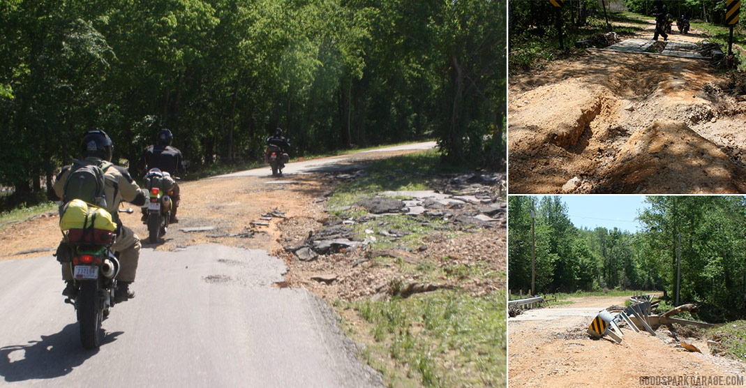 Battered Roads on the Trans America Trail