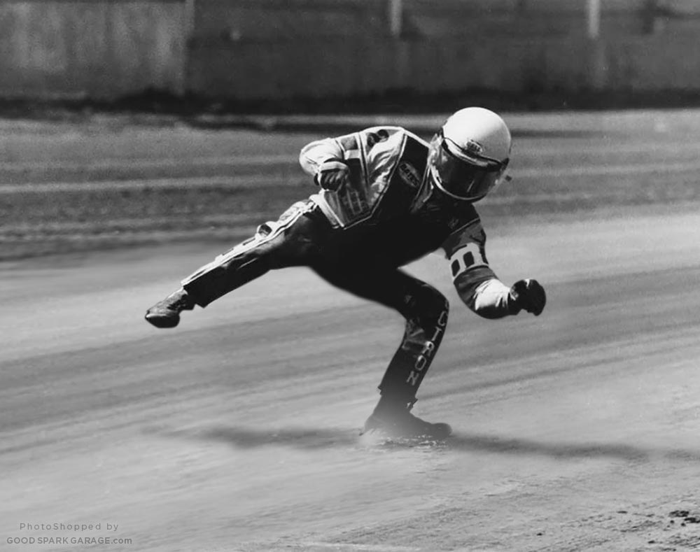 Kenny Roberts - Invisible Motorcycle