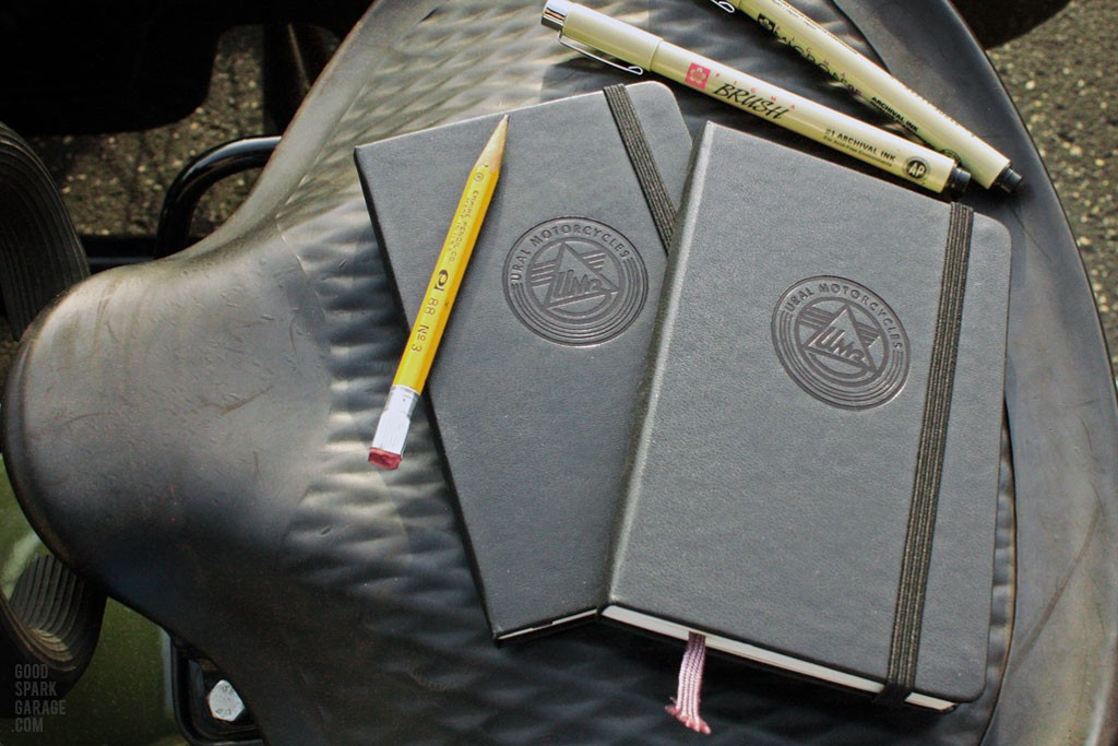 Ural Motorcycles embossed moleskin journal
