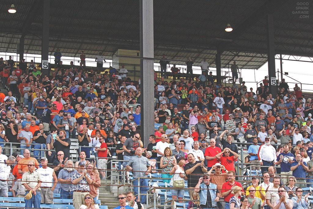 Indy Mile 2015 Crowd Grandstand