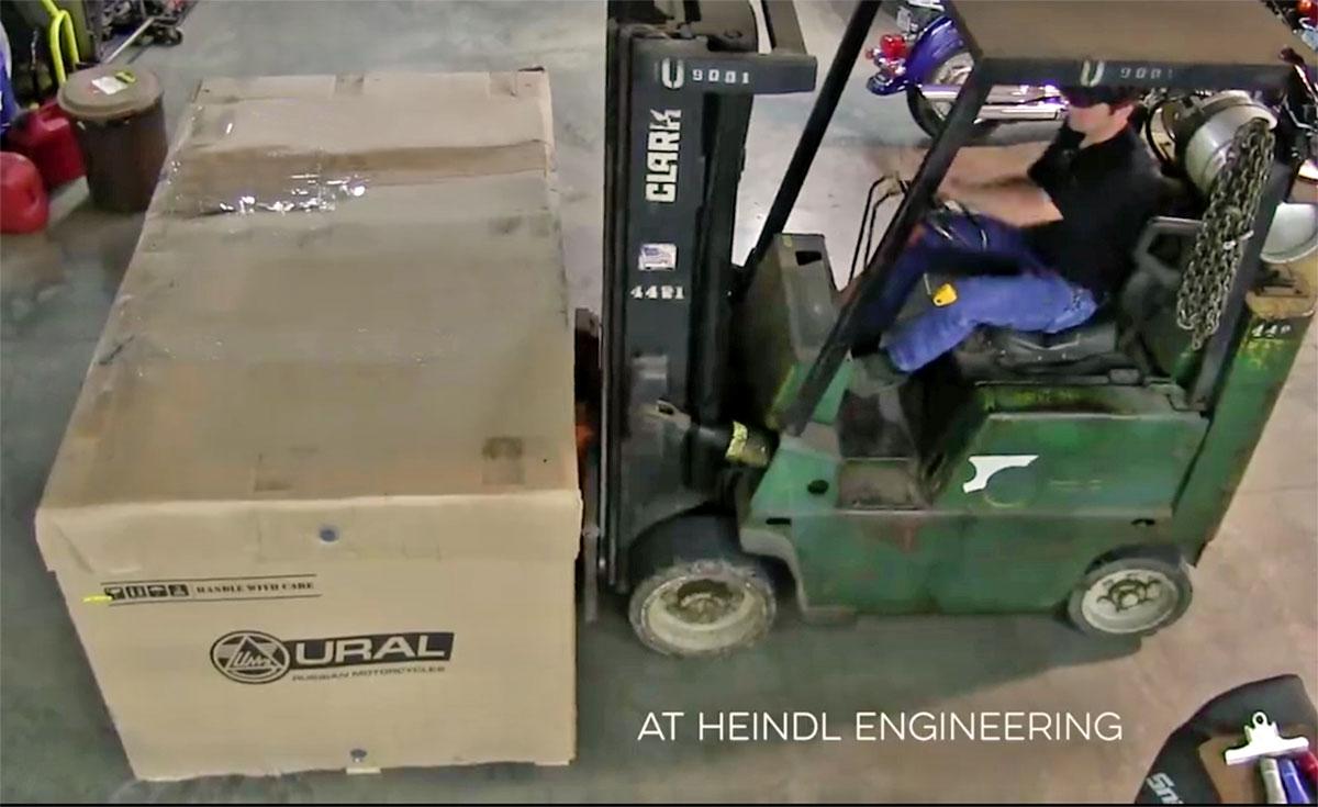 Jon preparing to Assemble Ural cT