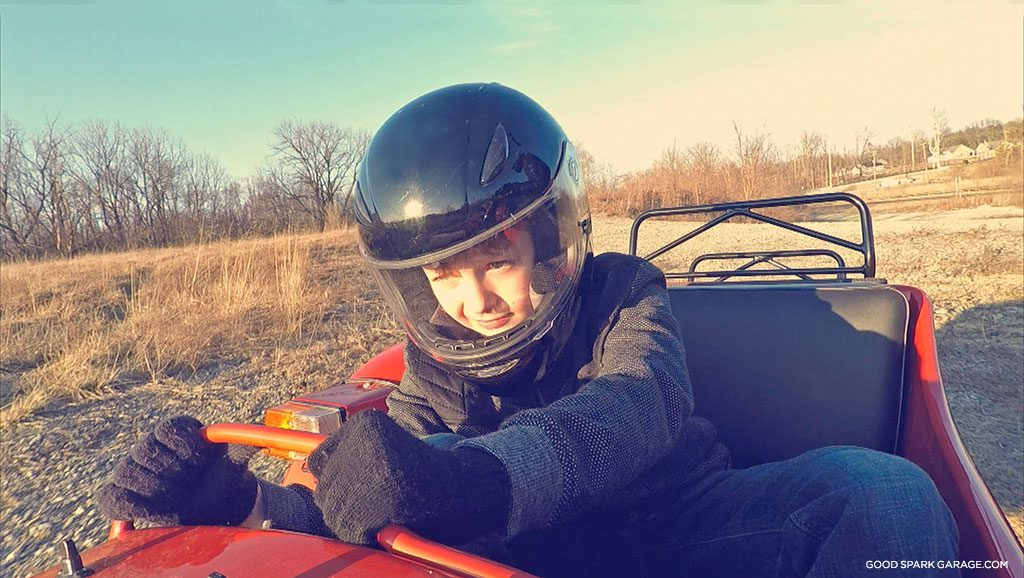 Ural sidecar kids wilkinson bros passenger