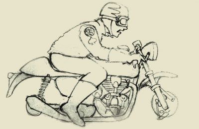 Sketch Wilkinson Bros AMA Vintage Motorcycle Days