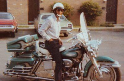 Billie Standley On His Harley