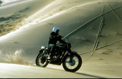 Kelso Dunes On A Triumph