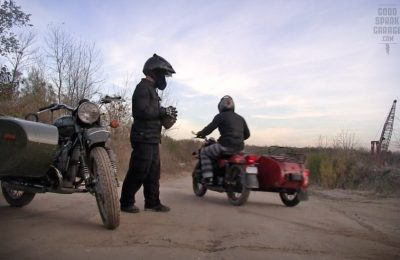 Ural Sidecar Football Trick Shot